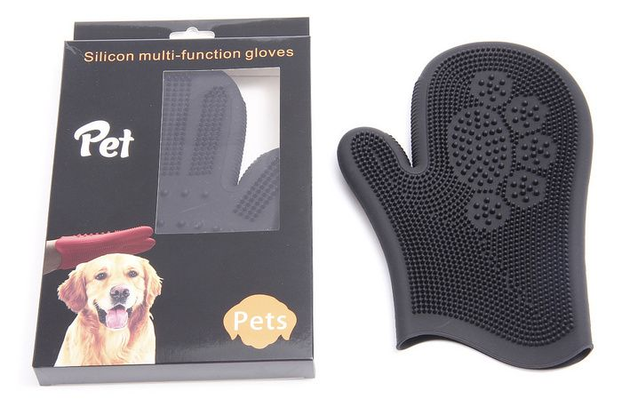 Pet Silicone Bath Massage Gloves Rubbing Bath Brushes Adhesive Brushes Dog Grooming Supplies Massage Gloves Pets