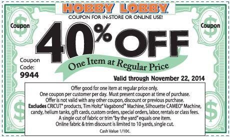 Retail Coupons: Hobby Lobby, Belk, Ulta & More