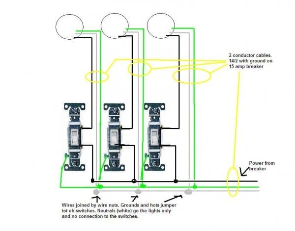 3 Gang Switch Wiring Diagram | Wiring Diagram  Gang Switch Wiring Diagram on 3 gang switch cover, 3 gang wall box, three switches one light diagram, 3 gang weatherproof box cover, 3 gang electrical switches, 3 gang light switch,