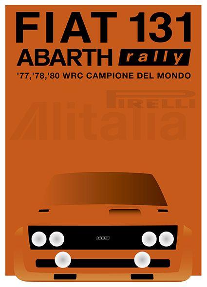 Original Poster Graphic / FIAT 131 ABARTH