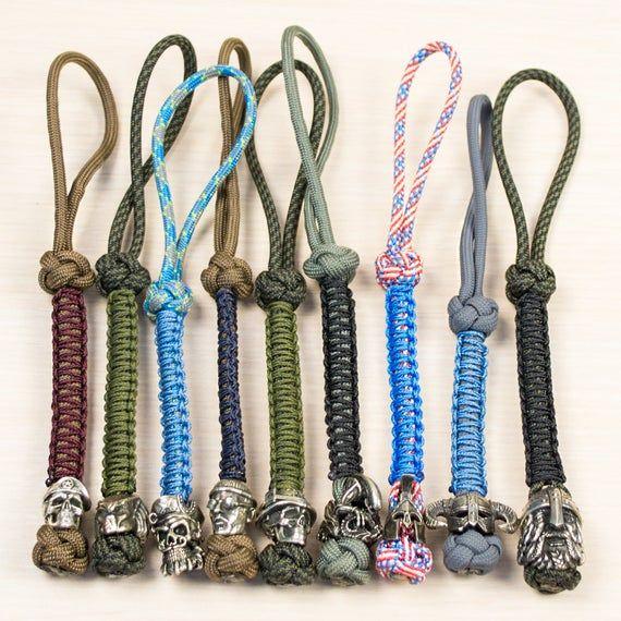 Awesome Paracord Lanyard Keychain Over 40 Artistic Beads Designs