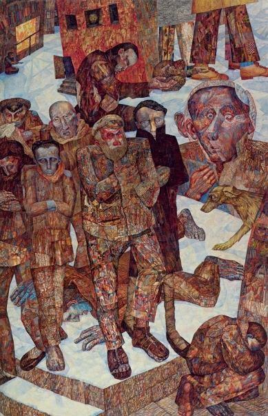 Alisa Poret (1902-1984) Нищие (Ночлежка, Люмпен-пролетарий). 1927 г. Картина для выставки в Доме печати.