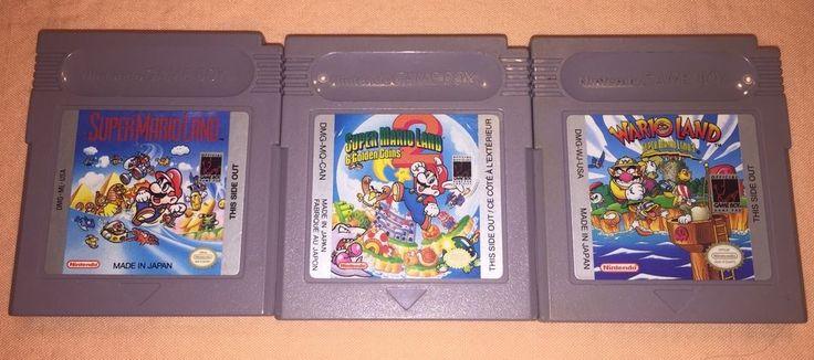 Nintendo Gameboy Game Boy Super Mario Land 1   2   3 Wario Cartridges