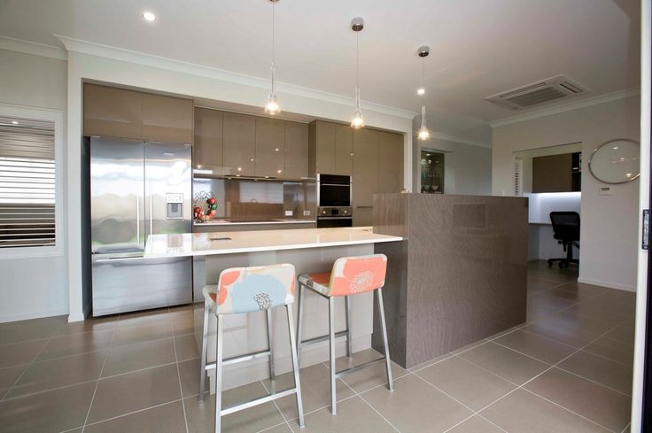 2 Pack Gloss kitchen in a Grady Homes Display House