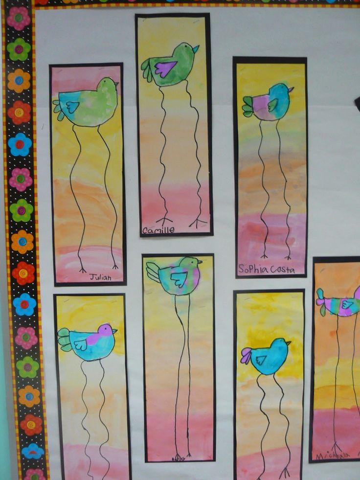 Mrs. T's First Grade Class: Dali Style Spring Birds