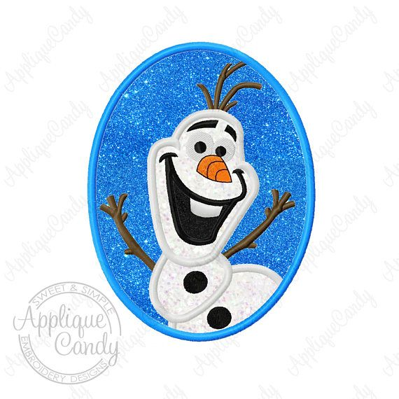 Frozen Snowman Cameo Applique Machine Embroidery Design 4x4