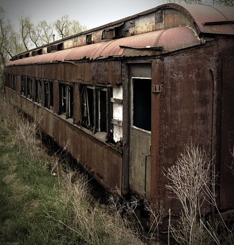 Old abandoned train.