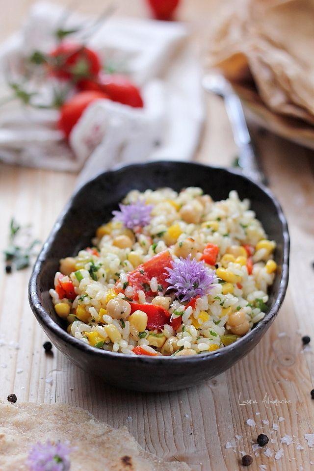 Salata de orez cu legume coapte detaliu