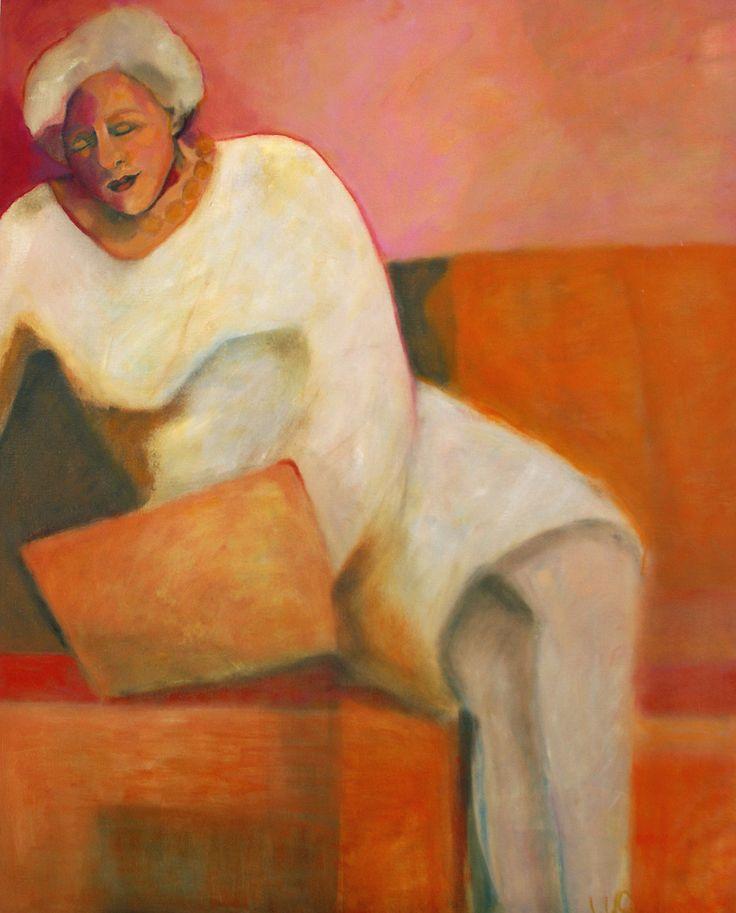 olieverf schilderij 75x100 cm titel:Zout op mijn huid.