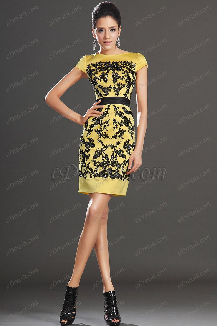 eDressit New Elegant Cap Sleeves Overlace Party Dress Day Dress (03130603)  $183.06
