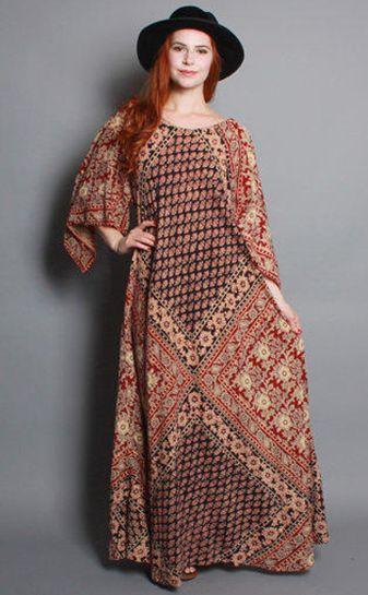 Modern Batik Maxi Dress - Busana Muslim Terbaru