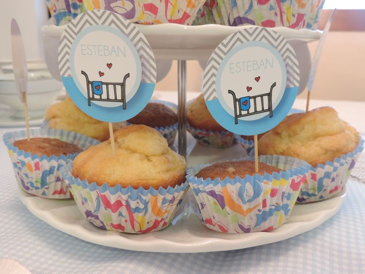 """Toppers """"cuna"""" para baby shower"""
