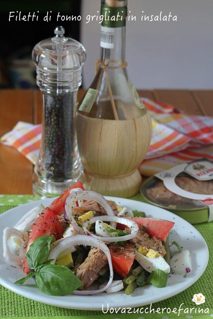 filetti tonno grigliati insalata fagiolini