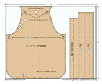 Patterns for Three Apron Styles - Threads
