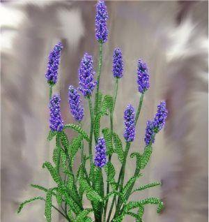 Цветок из бисера:мастер класс по плетению лаванды                                                                                                                                                                                 More