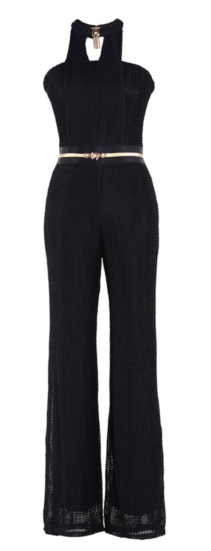 'Artesia' Mesh Jumpsuit - Black