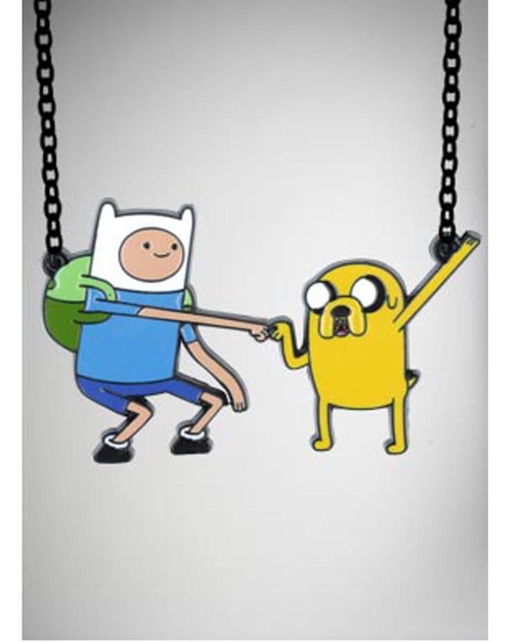 Adventure Time Finn and Jake Necklace