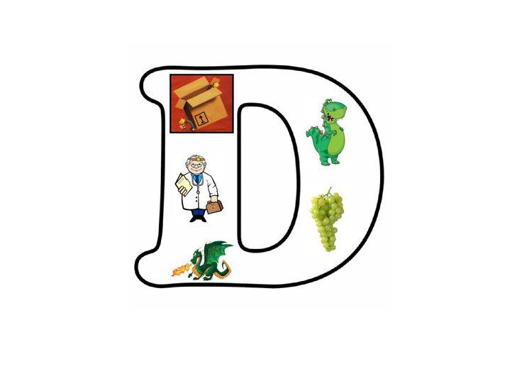 Letterpuzzel - Letter D