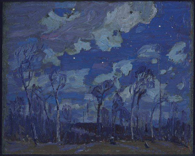 Tom Thomson Catalogue Raisonné | Nocturne: The Birches, Spring 1916 (1916.35) | Catalogue entry