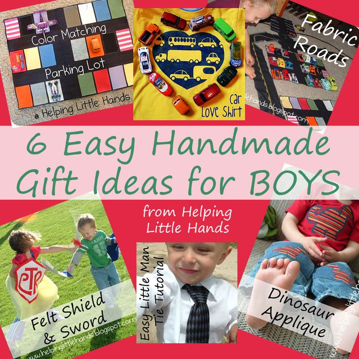 Pieces by polly 6 easy handmade gift ideas for boys for Simple homemade birthday gifts