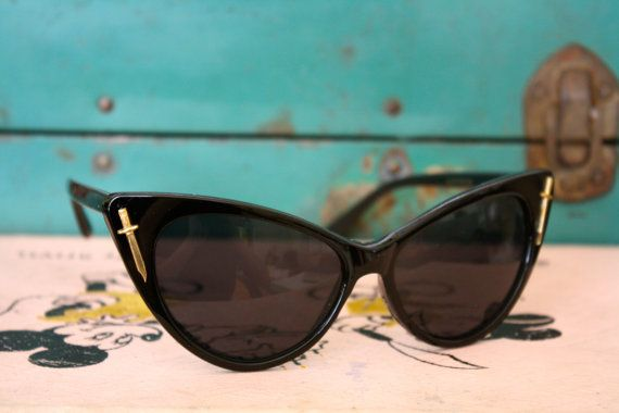 Leader of the Pack- Knife Embellished Cat Eye Sunglasses on Etsy, $24.00
