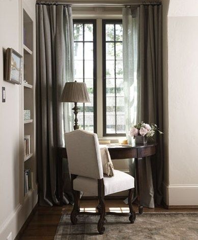 window desk & black trim on the window