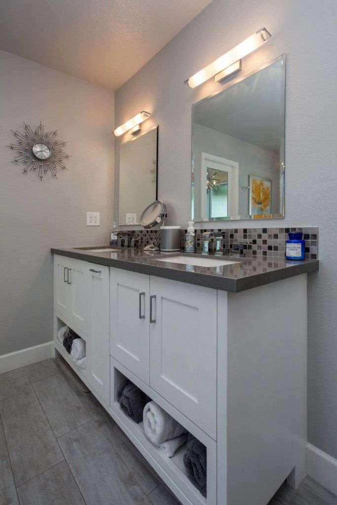 Photo Of Tempe Bathroom Remodeling Contractor and Designer custom vanity cabinet by Hochuli design u remodeling team in