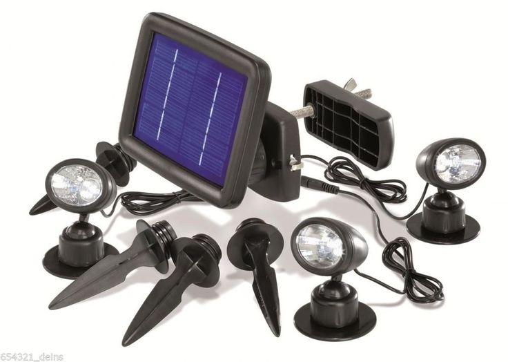 LED SOLARSTRAHLER 3ER SET SOLARSPOT SOLAR STRAHLER SOLARLEUCHTE SOLARLAMPE NEU