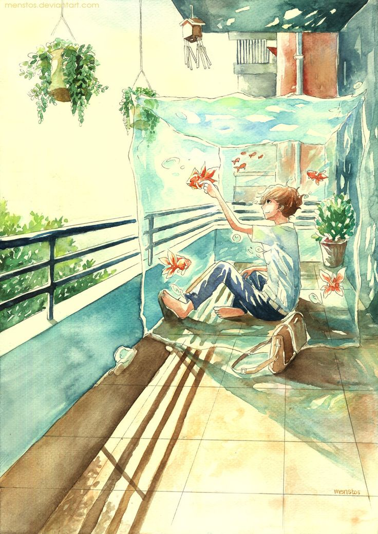 Goldfish Balcony by Menstos.deviantart.com