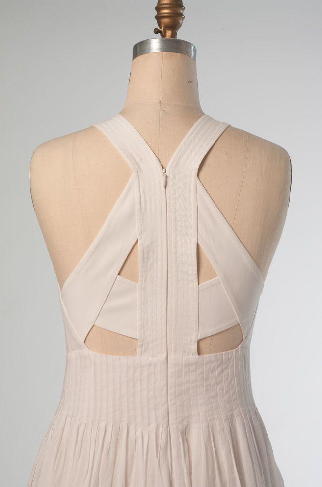 Vogue Patterns V1446 by Rebecca Taylor. Back view of dress.