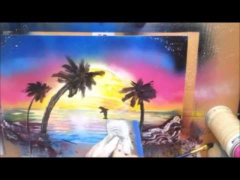 Spray paint art dolfijn