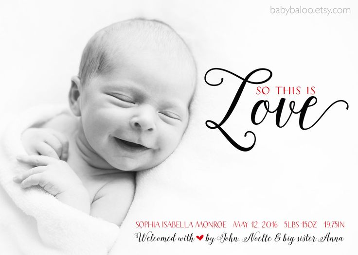 227 best Modern Birth Announcements images – Black and White Birth Announcements