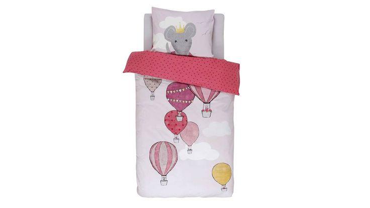 € 29,00 - Het Zooff dekbedovertrek is een mooi overtrek voor in de kinderkamer! Op het lichtroze overtrek varen kleine muisjes rond in de mooiste luchtballonnen.