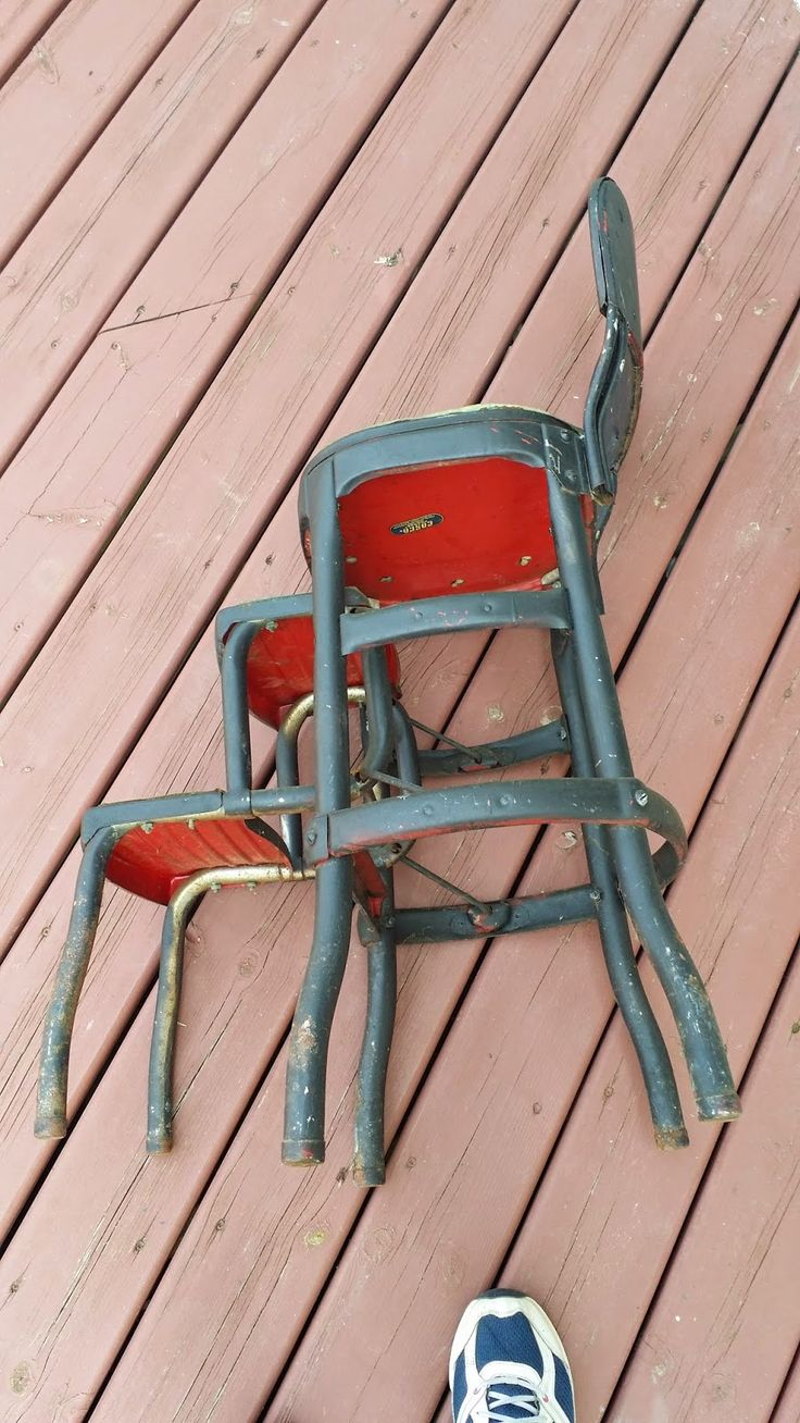 Vintage Diana: Before and After Vintage Metal Step Stool, DIY