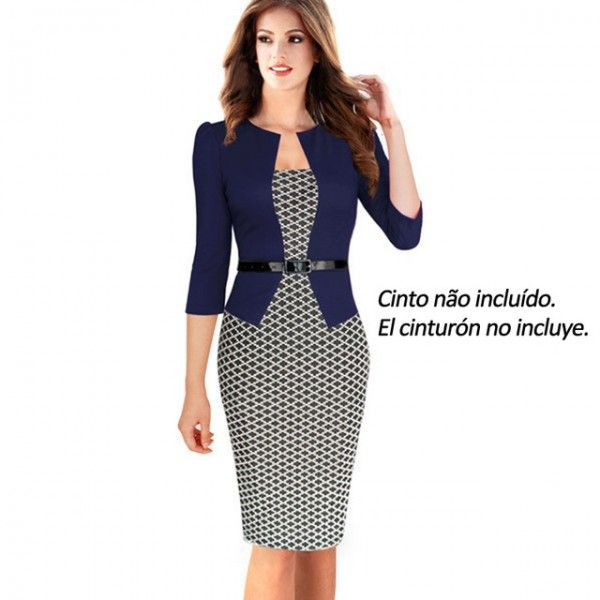 NICE-FOREVER ONE-PIECE FAUX JACKET BRIEF ELEGANT PATTERNS WORK DRESS OFFICE BODYCON FEMALE 3/4 OR FULL SLEEVE SHEATH DRESS B237  To Buy Other Product Click This Link   http://stoonshop.top/product/nice-forever-one-piece-faux-jacket-brief-elegant-patterns-work-dress-office-bodycon-female-34-or-full-sleeve-sheath-dress-b237/