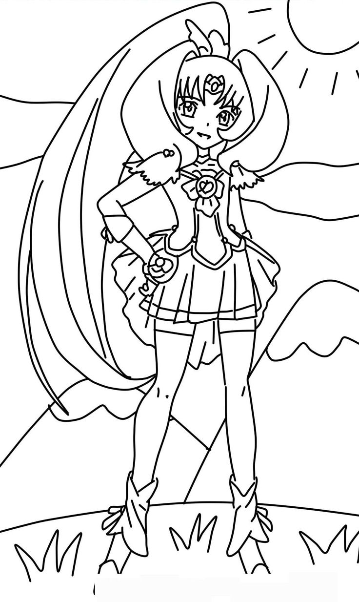 Anime Glitter Force Coloring Pages