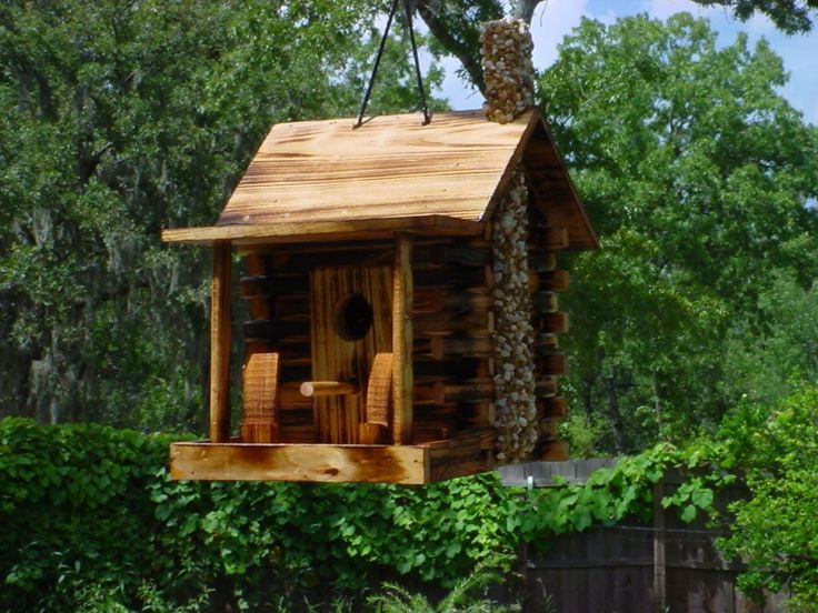 rustic log cabin birdhouses - photo #24