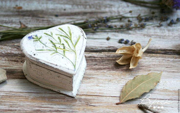 Купить Белая коробочка-подушечка для свадебных колец в Эко стиле - белый, подушечка для колец
