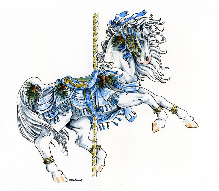 Images Of Holiday Carousel Animals In Fantasy Art