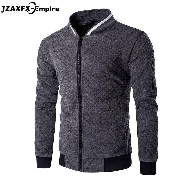 Men Hoodies Mens Jacket Coat O Neck Zipper Design Men's Autumn Casual sweatshirt Long Sleeve High Quality Hoodies men