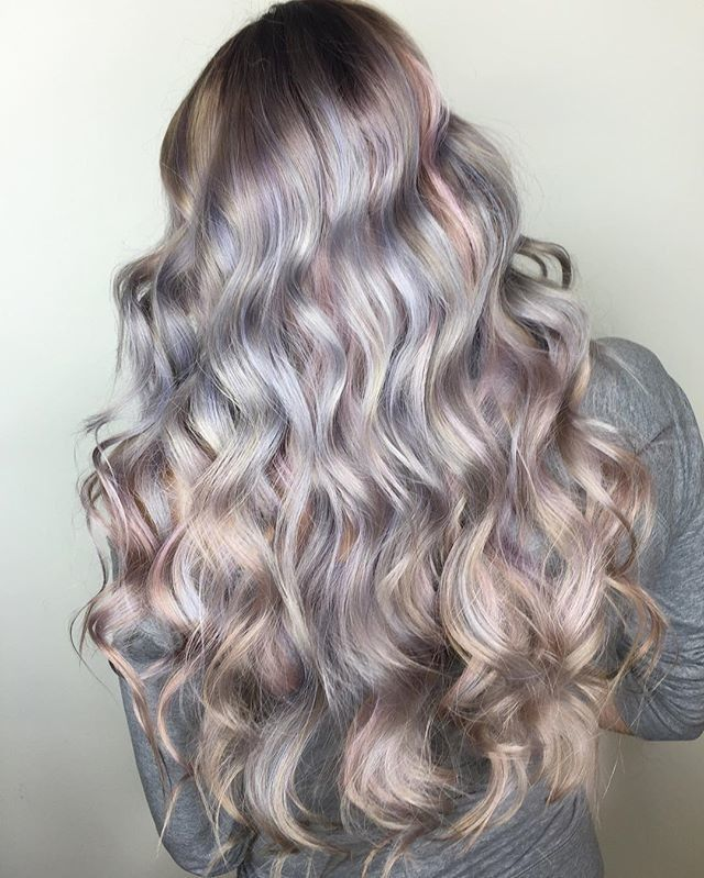 Iridescent Hair Trend Mother Of Pearl Rainbow Color