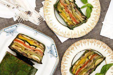 Roast vegetable terrine
