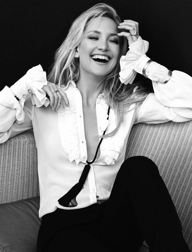Kate Hudson -Love her style (look at the cuffs and tie!) and her energy, she's amazing