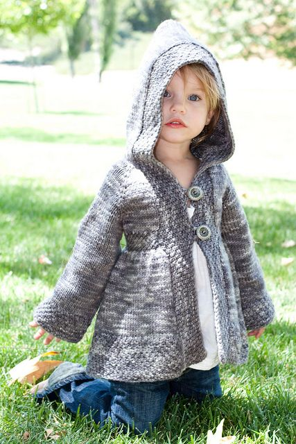 "Neverland Hoody ""wendy"" knitting pattern... darling cardigan for a little girl! $10.00"