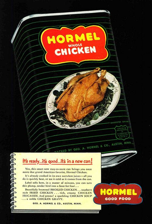 Hormel Whole Chicken - 1 of 7 Disgusting Retro Canned Foods that you won't believe existed...