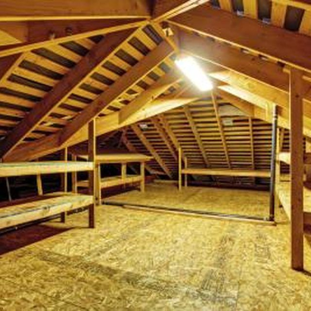 Attic flooring is one way to add storage space.