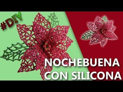 FLOR DE NOCHE BUENA. CHRISTMAS DECORATIONS, POINSETIA COMO HACER FLOR DE NOCHE BUENA - YouTube