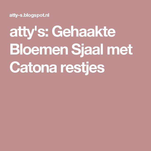 atty's: Gehaakte Bloemen Sjaal met Catona restjes