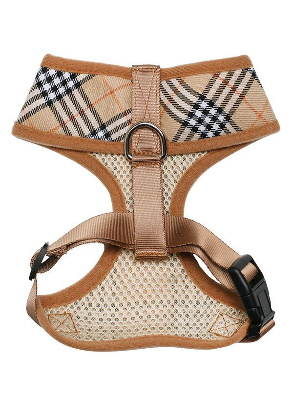 Brown Checked Tartan Harness | Patterned Dog Harnesses at Urban Pup
