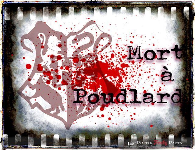 Potter frenchy party - Activité : murder party Harry Potter - soirée enquête à Poudlard - murder mystery dinner - jeu - enigmes - hogwarts game